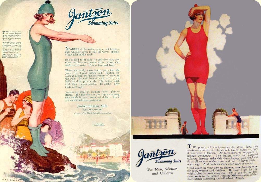 jantzen reklámok a 20-as évekbőljantzen reklámok a 20-as évekből
